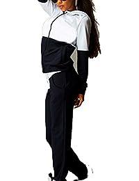 CRAVOG Chándal para Mujer de Casual Deportivos Chaqueta Pullover Sudadera y Pantalones