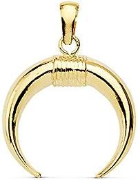 26af0bac395f Alda Joyeros Colgante Cuerno Amuleto Oro Amarillo 18K 16 MM Charm Media Luna