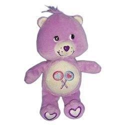 X-anderen–Kuscheltier Care Bears Die Glücksbärchis violett Herz blau -