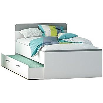 funktionsbett jugendbett schubladenbett g stebett ausziehbett funktionsbett 90x200cm wei. Black Bedroom Furniture Sets. Home Design Ideas