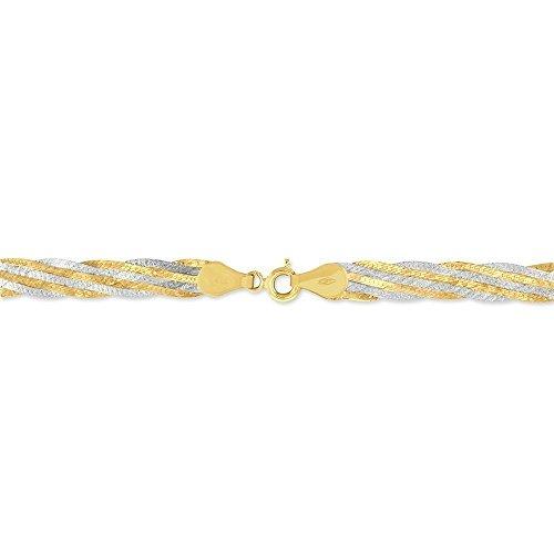 HISTOIRE D'OR - Bracelet Or - Femme - Or 2 couleurs 375/1000