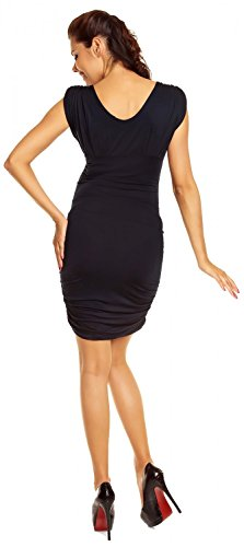 Zeta Ville - maternité - robe grossesse - sans manches - col V - femme - 525c Marine