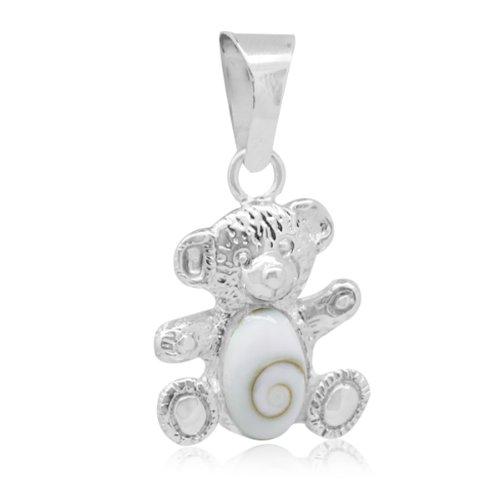 Chic-Net shivaeye Teddy Bear 15 millimetri argento