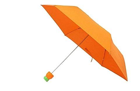 AIIGOU poivrons Creative carottes légumes parapluie plié personnalité ensoleillée parapluie Orange
