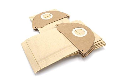 vhbw 10 Beutel Papier für Staubsauger Saugroboter Mehrzwecksauger Kärcher 2101, 2101 / TE, 2105, 2111, 2301, 4000 Plus/TE, A 2101, A 2111