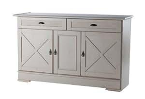 Buffet 3 portes / 2 tiroirs OLIVIA 410 Chêne blanchi