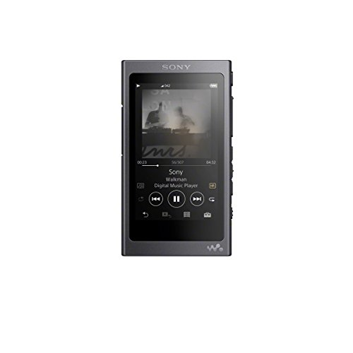 Sony NW-A35HN High-Resolution Walkman (16GB, Digital Noise Cancelling, Bluetooth, NFC, bis zu 45 Stunden Laufzeit, DSEE HX Upscale, LDAC) incl. High-Resolution NC In-Ear Kopfhörer, Schwarz