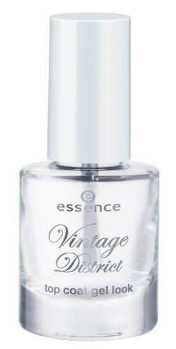 Essence Vintage District Top Coat gel look Nagellack Nail Polish Nr. 01 Shine Like New Inhalt: 8ml Farbe: Transparent Top Coat Nagellack Nail Polish für mehr Glanz und Schutz.