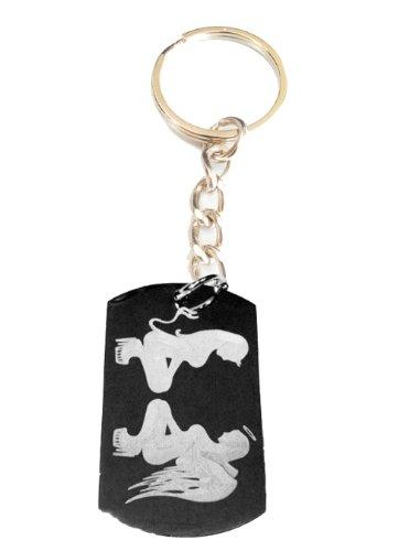 KEY CHAINS Sexy Devil Angel Stripper Babe Squating Logo Symbole - Metallring Schlüsselanhänger