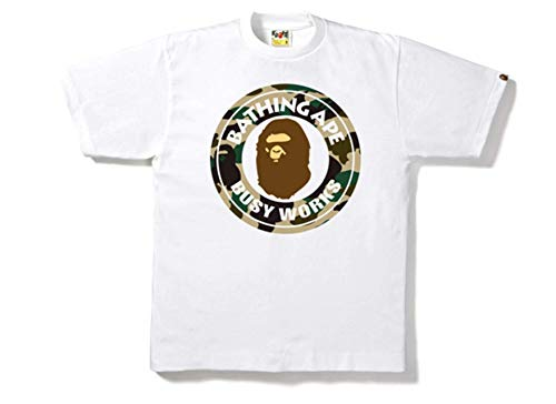 Bape by Bathing Ape Herren T-Shirt, Camouflage - Weiß - X-Groß (A Bathing Ape Clothing)