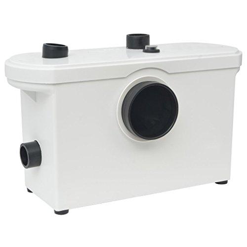 vidaXL Zerkleinerer Sanitär Pumpe WC Hebeanlage Abwasser Haushaltspumpe 600 W