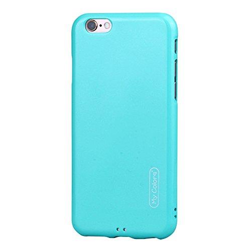 """MOONCASE iPhone 8/iPhone 7 Coque, Housse Étuis Doux TPU Anti-rayures Anti-chocs Protection Slim Fit Résilient Armor Case pour iPhone 7/iPhone 8 4.7"""" Black Sky-blue"""