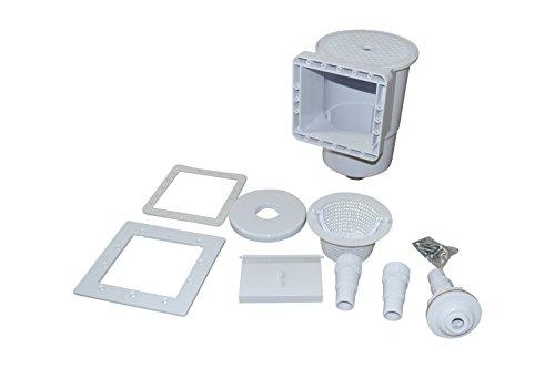 SPIRATO Skimmer für Stahlwandbecken inkl. Einlaufdüse, Saugkorb und Schlauchanschluss