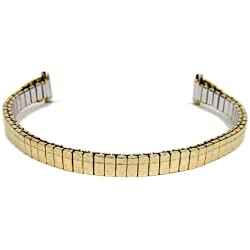 Eulit Flex Band Replacement Strap Stainless Steel IP Gold Bracelet 8 mm - 10 mm 71 2103
