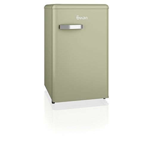 Swan SR11035GN, Freestanding Retro Under Counter Fridge Freezer, A+ Rated, 90 Litre, Green Best Price and Cheapest