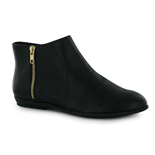 Miso Bijou Damen Stiefeletten Knoechel Schuhe Ankle Boots Reissverschluss Schwarz 8 (41) (Schuhe Elegant-flache)