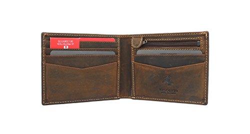 27e939969 Visconti Colección Slim Sword Cartera de Cuero con Protección RFID VSL20  Canela Petróleo