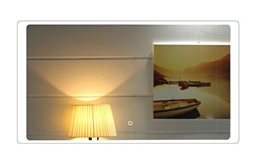 100 x 60 cm Design Specchio Del Bagno Con Illuminazione LED GS044 Interruttore tattile Bianco Freddo IP44