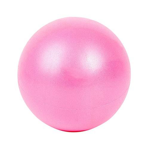 Fortitude Sports Yoga-Ball 25 cm, Mini-Gymnastikball für Pilates, Yoga, Fitness, Stabilität und Physiotherapie, Mini-Pilates-Ball mit aufblasbarem Strohhalm - Rose
