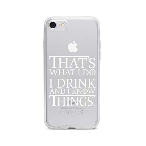 licaso Apple iPhone 7 Handyhülle Smartphone Apple Case aus TPU mit Drinking Game Print Motiv Slim Design Transparent Cover Schutz Hülle Protector Soft Aufdruck Lustig Funny Druck