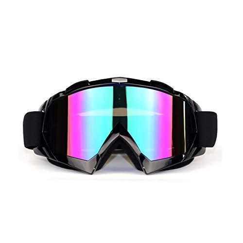 Aienid Schutzbrille Kinder Schwarz Colorful Skibrille Winddichter Augenschutz Size:20X10CM