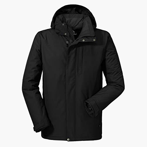 Schöffel wind- und wasserdichte Winterjacke, warme und atmungsaktive Outdoor Jacke mit höchstem Tragekomfort, schwarz, 58 (2XL)