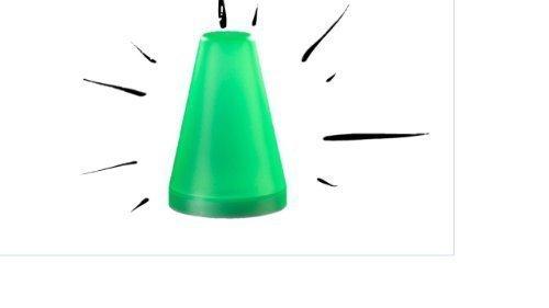 LED Campinglampe grün