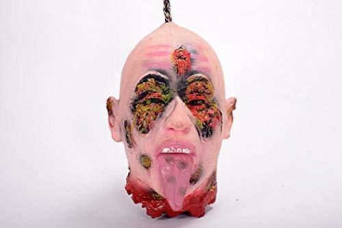 MIANJV Halloween Horror Maske Übelkeit Rotten Gesicht Zombie Ghost Neuheit Latex Gummi Gruselige Maske Scary Requisiten für Karneval Kostüm Party
