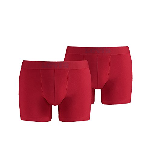 Levi's Herren Boxershorts Levis 200sf Boxer Brief 2p 2er Pack Rot (red 072)