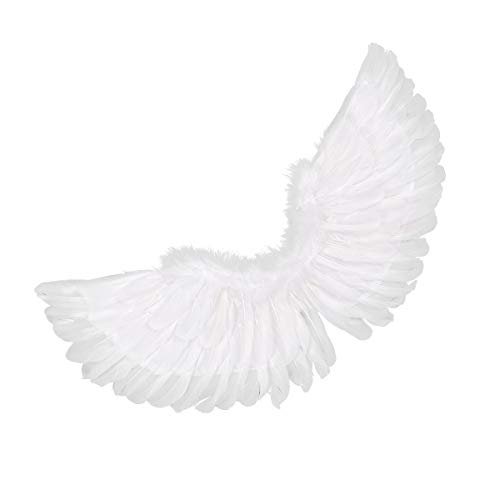 Agoky Feder Flügel Kostüm Kinder Erwachsene Engelsflügel Feder Halloween Karneval Fasching Kostüm Weiß Weiß B 60X40cm