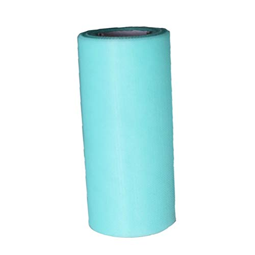 MEIDI Home Tulle Rouleau Tutu Spool Emballage Cadeau Artisanat Bridal Bow Table Runner Chaise Ceintures Décoration De Mariage (Bleu) 25 Mètres