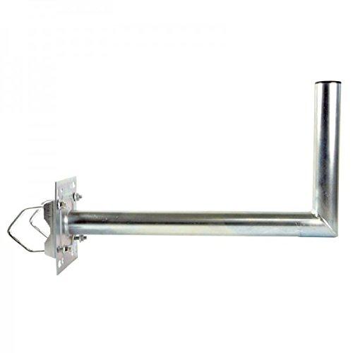 PremiumX Balkonhalterung / Geländerhalterung / Ausleger mit Schellen, Zahnschellen 55cm Stahl für Sat Schüssel Spiegel Antenne Satellitenschüssel