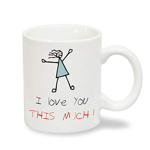 Unbekannt I Love You This Much Romantic Partnerring-XG Exklusive Collection Kaffeebecher