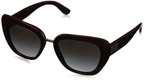 Dolce & gabbana 0dg4296 30918g 53 occhiali da sole, rosso (bordeaux/greygradient), donna
