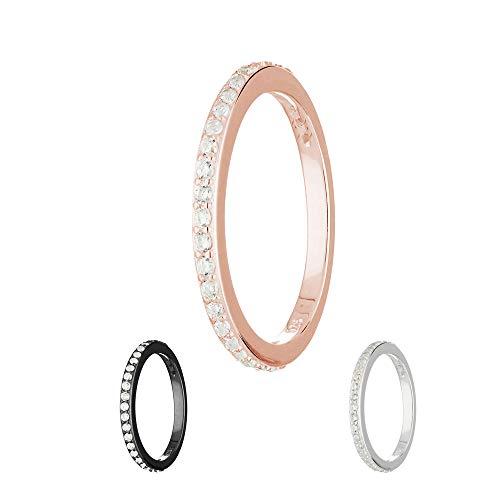 Treuheld Ring - 925 Silber - Kristalle [26.] - Rosegold 50