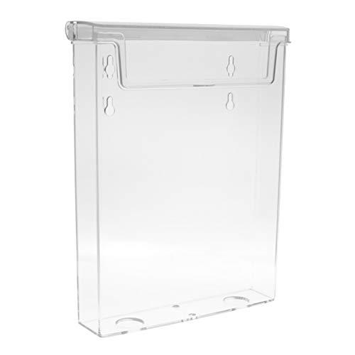 taymar® DIN A5 Prospekthalter/Prospektbox mit Deckel/Wetterfest (auch für den Außenbereich geeignet)