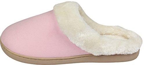 LUXEHOME Frauen Ist Gemütlich Und Bequem Vlies Haus Schuhe / Hausschuhe (1-08) Pink