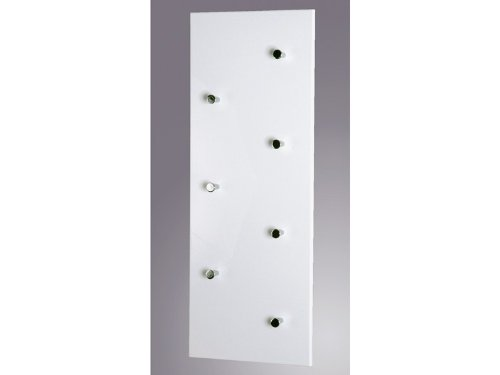 Haku-Möbel 42390 Wandgarderobe 80 x 5,5 x 30 cm, weiß/chrom/nickel