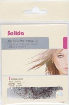 Solida Haarknotnnetz mit Perlen, dunkel