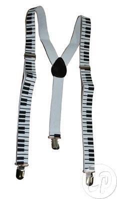 Funny Fashion 60826 Hosenträger Piano Klavier Klaviertasten Musik Tastatur NEU
