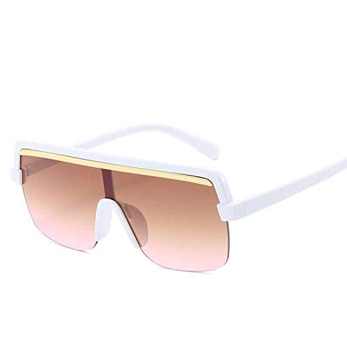FIRM-CASE Retro Quadrat-Sonnenbrille-Frauen Siamese Leopard große Feld-Sun-Glas-Männer Gradient Ozean Objektiv Brillen, 7