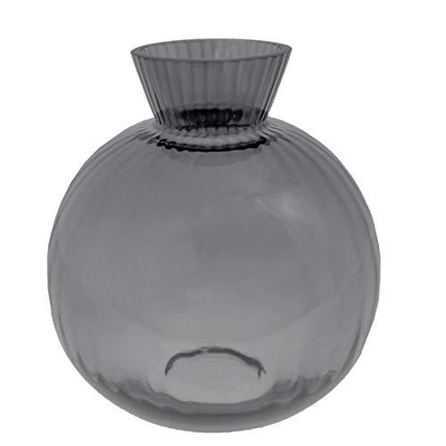 Storefactory - Vra - Vase - Kugelvase - Farbe: Grau - Glas - Maße (DxH): 15 x 16 cm