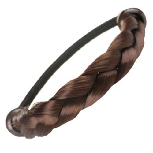 Neuheit Perücke Gummibänder Geflochtene Fauxhaares Pferdeschwanz-Halter Haarteil Haarband Elastische Gummibänder Pferdeschwanz-Halter-Haar-Styling-Werkzeug Für Frauen Mädchen