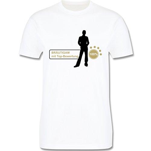 JGA Junggesellenabschied - Bräutigam mit Top Bewertungen - Herren Premium T-Shirt Weiß