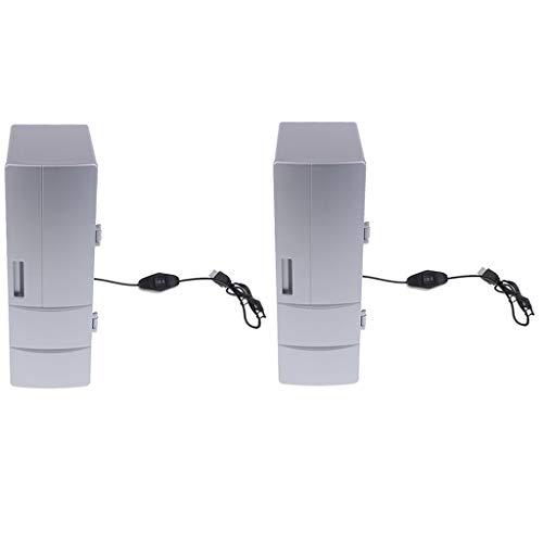 H HILABEE 2 Stücke 5 V Mini Kühlschrank Wärme Kühlen Super Raum 2 Kann USB Kühlschrank Gefrierschrank (Gefrierschrank Tuch)