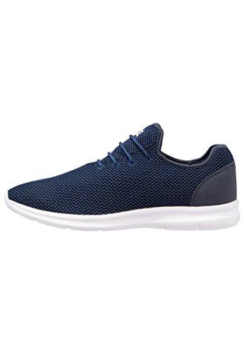 YOURTURN Slip On Sneaker Herren in Dunkel Blau – Low Top Sneakers Zum Reinschlüpfen Aus Mesh, 41 (Dunkel Vorne Grün)
