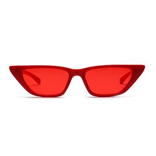Farbe Objektiv - Yiph-Sunglass Sonnenbrillen Mode Kleine Box Katzenaugen-Sonnenbrille