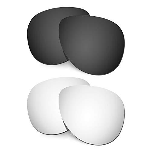 HKUCO Verstärken Ersatz-Brillengläser für Oakley Elmont (Large) Schwarz/Titan Sonnenbrille