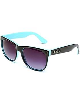 Catania Occhiali Gafas de Sol - Modelo Wayfarer Vintage (UV400) (Negro / Azul)