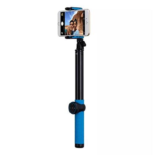 "Fonrest 1,5 m 149,86 cm (59"") estensibile Bluetooth per foto Selfie Stick con Monopiede treppiede, supporto a mano Shoot gesto"